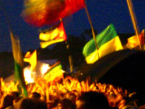 flags at manics