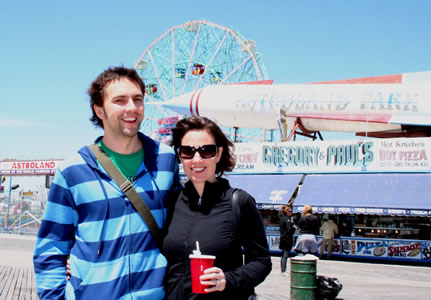 Andy and Lisa at Coney Island