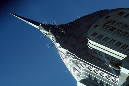 Chrysler Building at a slant