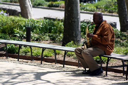 Saxophone Player New York